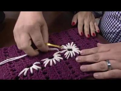 Crochetando com EuroRoma e Marcelo Nunes - Tapete Bordado   Parte 2