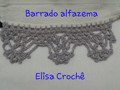 Versão canhotos: Barrado alfazema em Crochê # Elisa Crochê