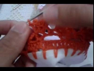 Barrado de crochê p.pano de prato#31
