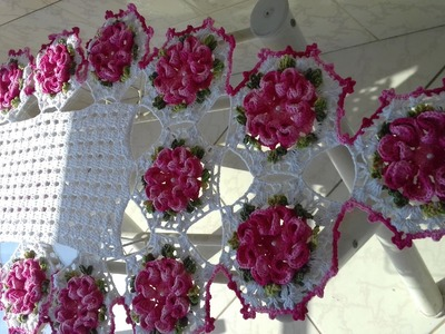 Caminho de Mesa em Crochê por Cristina Coelho Alves - Parte 06