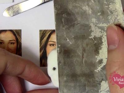 ROSTO REALISTA - Como fazer o olhinho na caveirinha da noivinha de biscuit