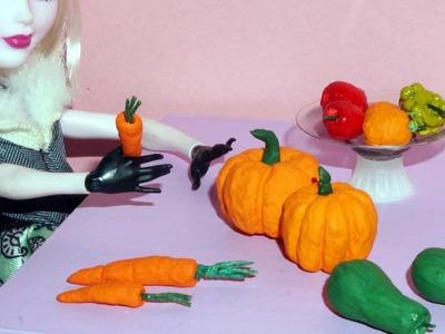 Como fazer abóbora e cenoura para boneca Barbie e outras - miniatura