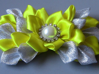 Laço de de fitas de cetim e organza e feltro Passo a Passo - -D.I.Y ,PAP -Satin ribbon bow