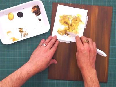 Pintura com efeito de madeira e ouro
