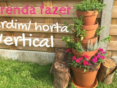 Aprenda a fazer uma horta - jardim vertical -vaso terracota | Katherinne Ribeiro