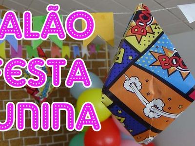 Como fazer Balão de Festa Junina para bonecas