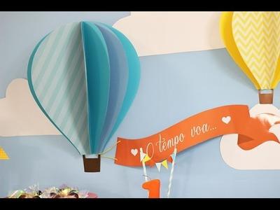 Como fazer um balão 3D para decorar sua festa