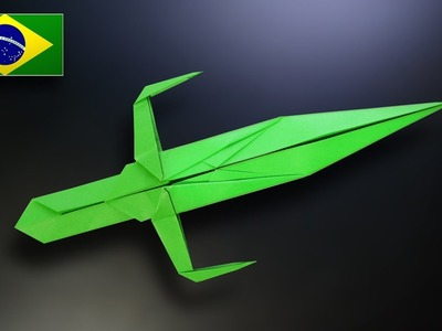 Origami: Espada Ninja - Instruções em Português PT-BR