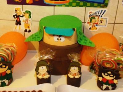 Decoração Festa de Aniversário da Turma do Chaves - DIY Artesanato