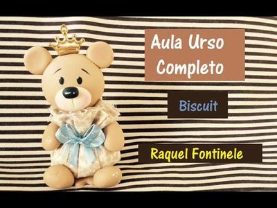 DIY- Ursinho sachê em Biscuit - Raquel Fontinele