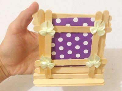 Porta Retratos de Palito de Picolé - DIY Presente para Dia das Mães
