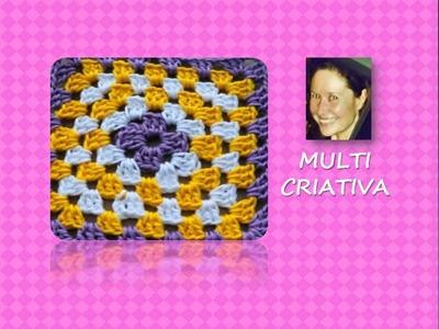 Crochê: como mudar as cores nos quadrados. Multicriativa Crochê