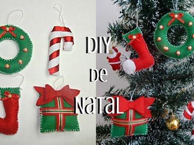 DIY: Enfeites de natal com feltro.