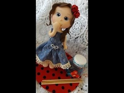 DIY- Fran aulas - boneca em biscuit- aromatizador