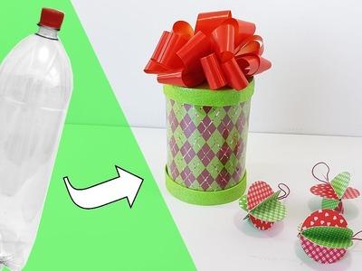 DIY | Ideia Com Garrafa Pet  Para o Natal