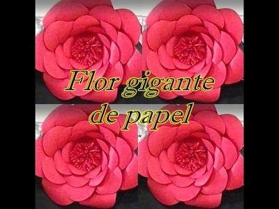 Como fazer flor gigante de papel - Giant flower paper