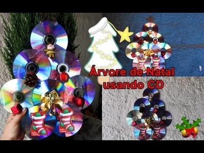 DIY Árvore de NATAL com CD DVD | Do LIXO ao LUXO