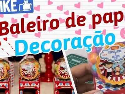 •DIY• Baleiro de papel | Decoração para festa | #Papelemtudo