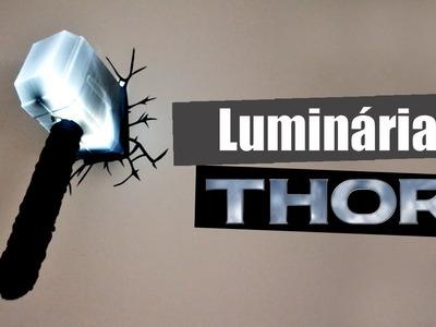 DIY - Como fazer Luminária de parede do martelo do Thor