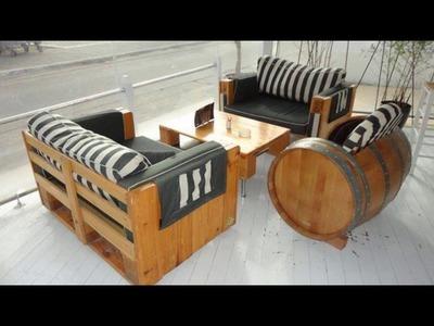 Sofa de pallet auto luxo 9 #modelos #DecorarMoveisCaseiros #Tutorial #PassoAPassoNaDescricao #DIY