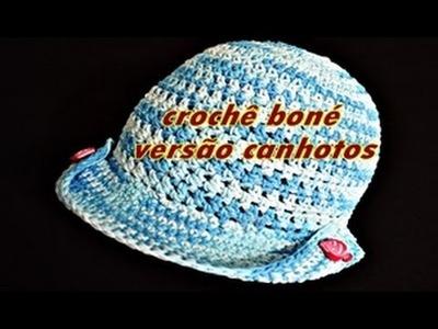Versão Canhotos | Boné em crochê de cauda longa | Left Hand Crochet