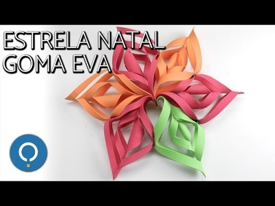 Decoração de natal em EVA | estrela DIY