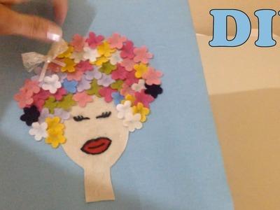 Como Fazer Artesanato de Quadro com Tecido - DIY