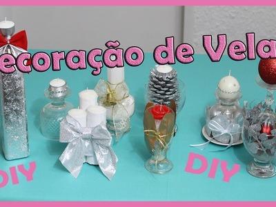 Decoração de Velas, 7 Ideias Para decorar velas,DIY.