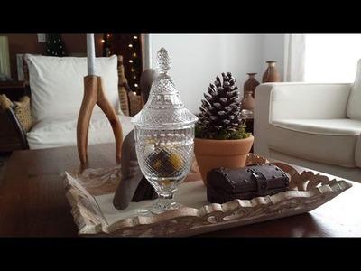 DIY FÁCIL E BARATO - Mini árvore de Natal com Pinha - Arranjo Rústico | Página da Kika