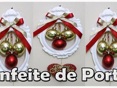 Enfeite de Porta Para o Natal, DIY, Decoração de Natal.