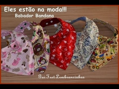 DIY- COMO FAZER O BABADOR BANDANA (MOLDE COMPLETO)