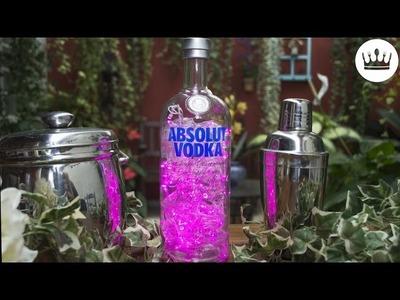ABAJUR ABSOLUT: como fazer uma luminária com garrafa | DIY | Cozinha do Bom Gosto | Gabi Rossi