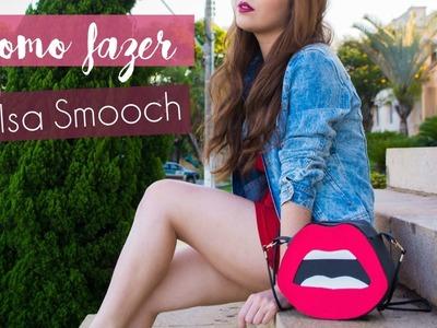 Como fazer bolsa com EVA | D.I.Y Bolsa em forma de boca  - Smooch Bag