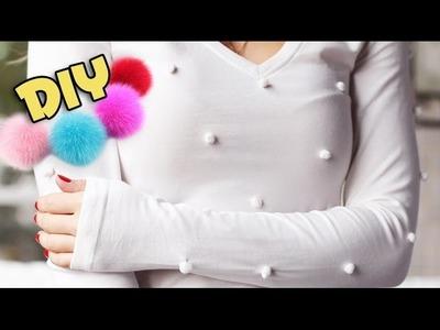 DIY: Blusa de pompom gastando menos de R$ 2,00! -- Customização