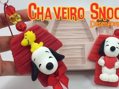 DIY - Chaveiro Snoopy em BISCUIT - Desenformando (Moldes Simone Moldes)