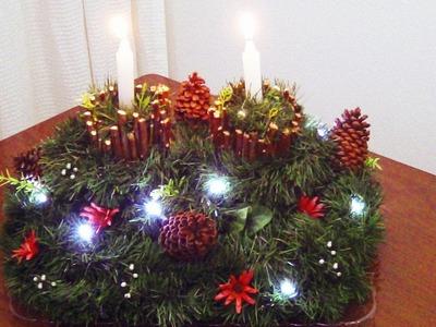 Centro de Mesa Rústico para antes do Natal | Má Patchwork