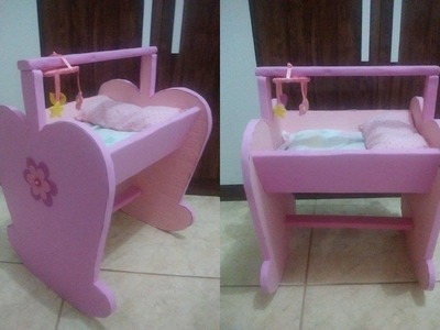 COMO FAZER BERÇO PARA BABY ALIVE E OUTRAS BONECAS COM PAPELÃO