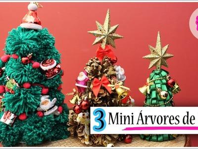 DIY: 3 Mini Árvores de Natal fáceis e baratinhas #1
