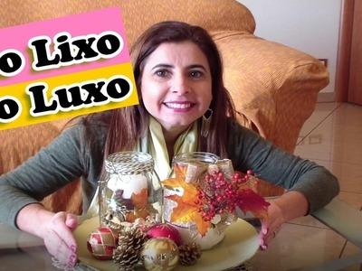 DIY, DO LIXO AO LUXO, ENFEITES DE NATAL COM POTES, MARLINDA CANONICO