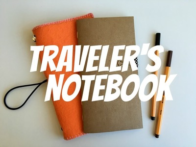Como fazer um tralever's notebook - #PapelEmTudo