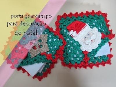 Porta guardanapo para a decoração de natal 1
