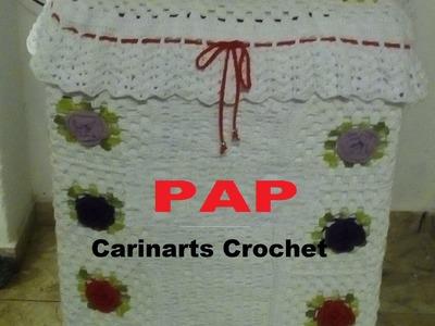 Capa para a Maquina de lavar em crochê  (1°parte) por Carina Dias