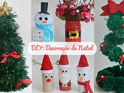 Diy: Decoração de Natal (Papai Noel. Árvore, Boneco de neve. Rena, etc)