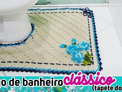 JOGO DE BANHEIRO CLÁSSICO (TAPETE VASO) DIANE GONÇALVES