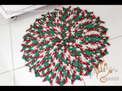 Jogo de Banheiro em Crochê Natal - Tapete da Pia