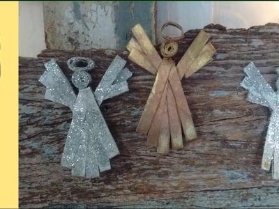 Como Fazer Enfeite de Natal - Anjinho com rolinhos de papel higienico anjo