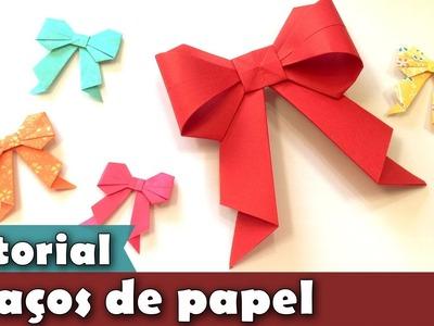 Como fazer Laço de Origami | Enfeite | Tutorial | PAP