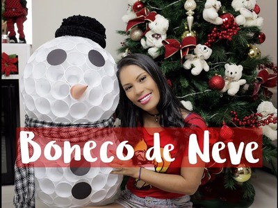 DIY - BONECO DE NEVE COM COPO DESCARTÁVEL