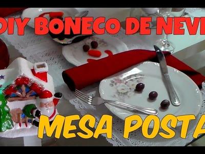 DIY BONECO DE NEVE - MESA POSTA