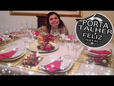DIY, ENFEITES DE NATAL, PORTA TALHER, MARLINDA CANONICO #projetodenatal